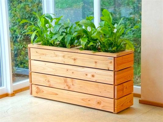 Pflanzkasten / Pflanzkübel Holz Lang S, Oberfläche: Natur Geölt