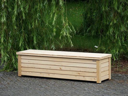Truhenbank / Sitzbank Holz L, Oberfläche: Natur