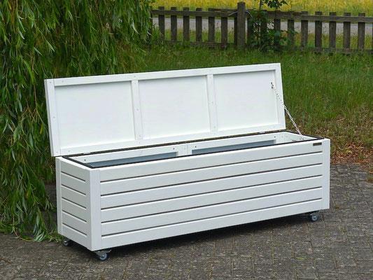 Truhenbank / Sitztruhe Holz L, Oberfläche: Weiß