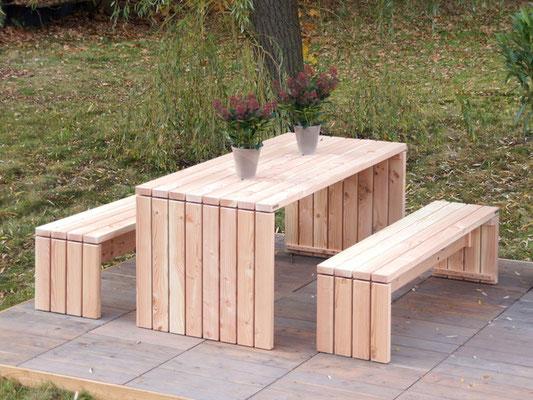 Gartenmöbel Holz Set 1, Oberfläche: Natur