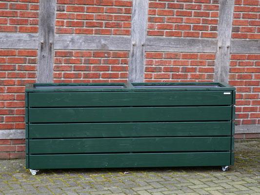 Pflanzkasten / Pflanzkübel Holz Lang L, Oberfläche: Tannengrün