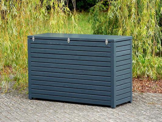 Auflagenbox / Kissenbox Holz nach Maß, Oberfläche: Anthrazit Grau