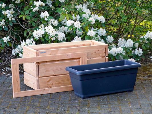 Pflanzkasten / Pflanzkübel Holz M, Oberfläche: Natur Geölt