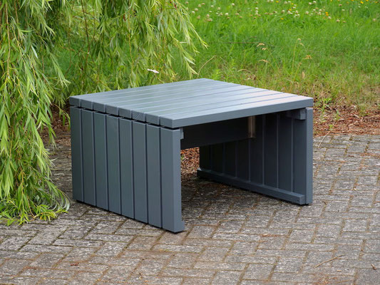 Lounge Möbel / Lounge Tisch Holz, Oberfläche: Steingrau