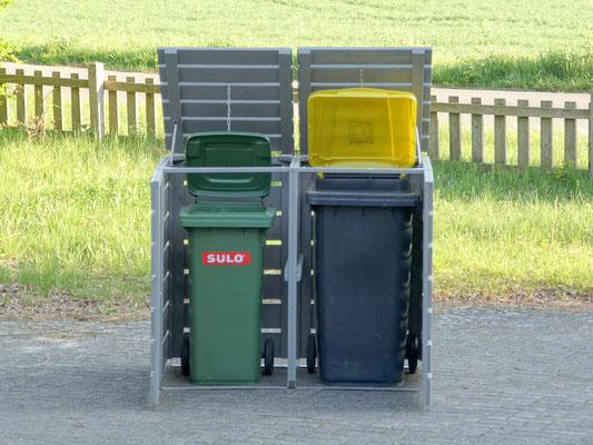2er Mülltonnenbox / Mülltonnenverkleidung für 120 L & 240 L Mülltonnen