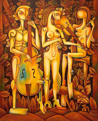 """OIL ON CANVAS 60 """" X 48 """" BY DEIBY ORIGINAL SOLD"""