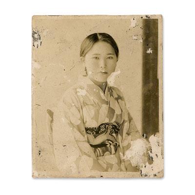 昭和初期に撮影された写真 (モノクロプリント 6×4.8cm)