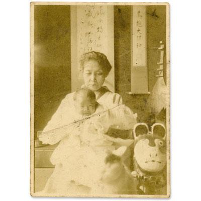 昭和初期に撮影された写真(白黒プリント 8×6cm)