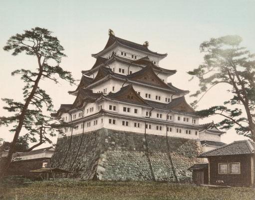 日下部金兵衛 彩色写真「名古屋城」