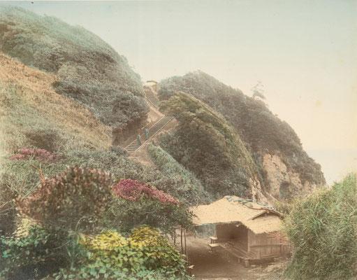 日下部金兵衛 彩色写真「江の島」