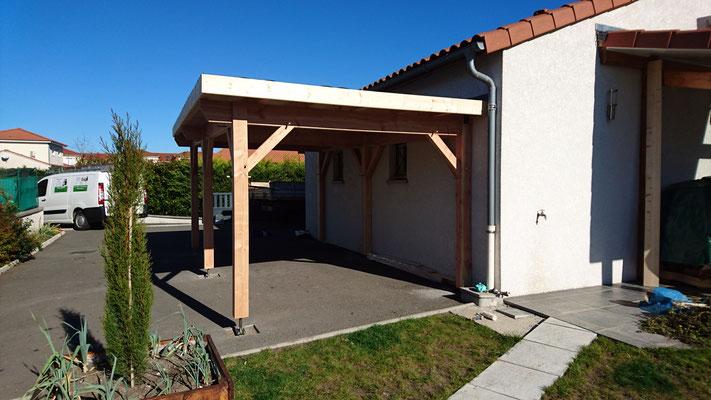 Carport toit plat , couverture EPDM