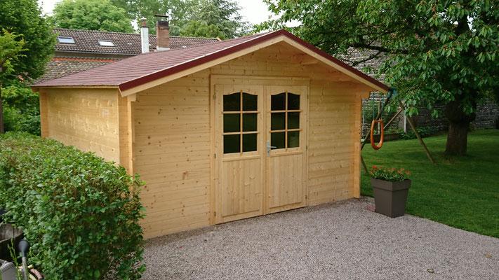 Abris de jardin Lotta 13.90 m² madriers 34 mm