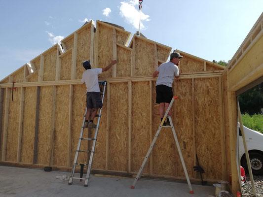 Montage des murs pignon