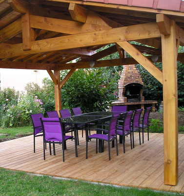 Pool House gamme sancy + lames terrasse mélèze