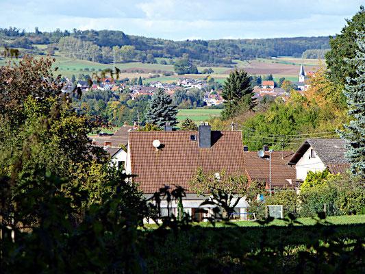 Blick von Ober-Mockstadt auf Dauernheim