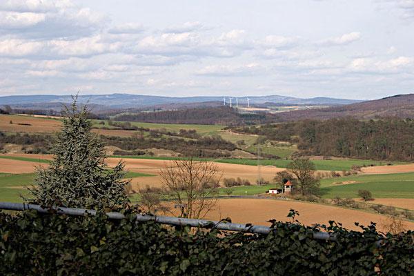 Blick zum Vogelsberg