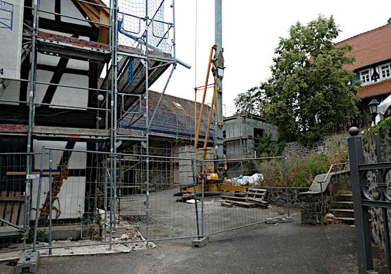 Bauarbeiten im Pfarrhof
