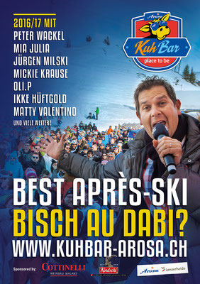 Après-Ski-Programm WINTER 2016/17 in der KuhBar Arosa