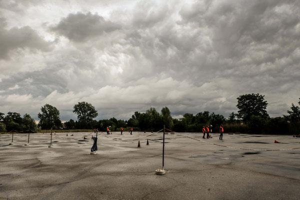 Regenreicher Wettkampftag