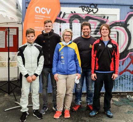 """Das Team um den MC Altenburg mit den Gaststartern  Franz Uhlig, Marc Weisheit, Franziska Lesser, dem """"Coach"""" Olaf und mit Andreas Prautsch"""