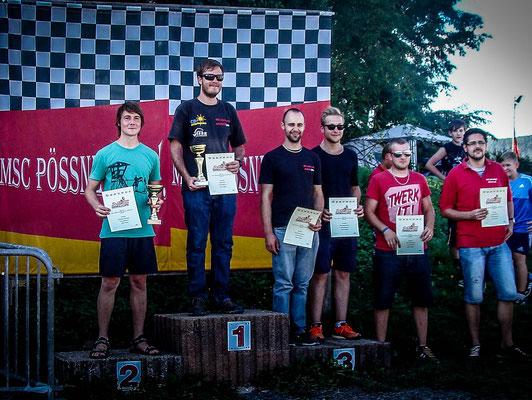 Andreas verblüffte die Konkurenz nach langer Abstinenz vom Kartsport mit Platz 2.