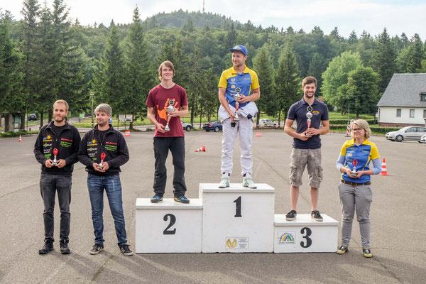 Siegerehrung mit Andreas Prautsch auf Platz 2 in der Tageswertung