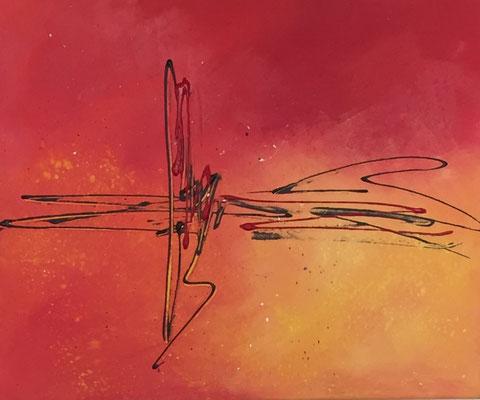Red, 44 x 55 cm  Acryl      200.-