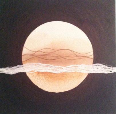 Moon 70 x 70 cm  Acryl, Strukturpaste     450.-