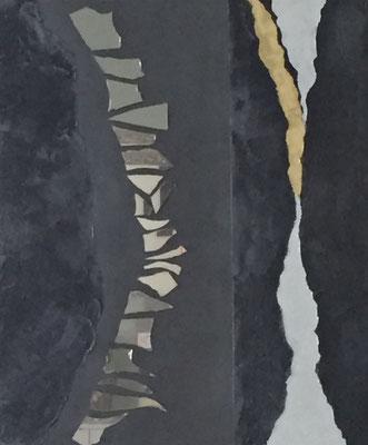 Black Earth 1, 50 x60 cm Acryl, Strukturpaste, Spiegel 300