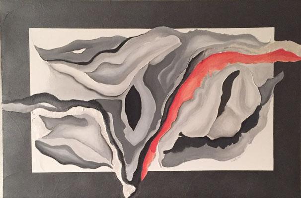 Magma, 70 x 90 cm   Acryl, Strukturpaste     580.-