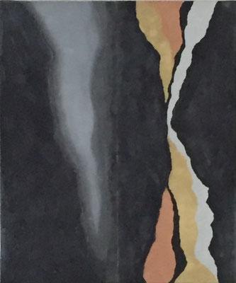 Black Earth 2,  50 x 60 cm  Acryl, Strukturpaste      300.-