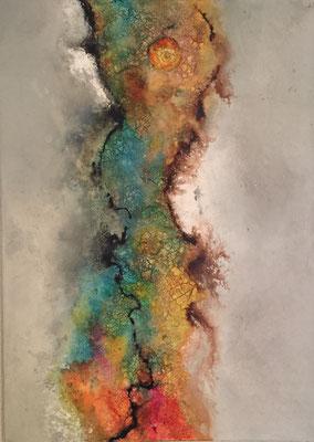 50 x 70 cm Acryl, Strukturpaste, Pigmente 400.-