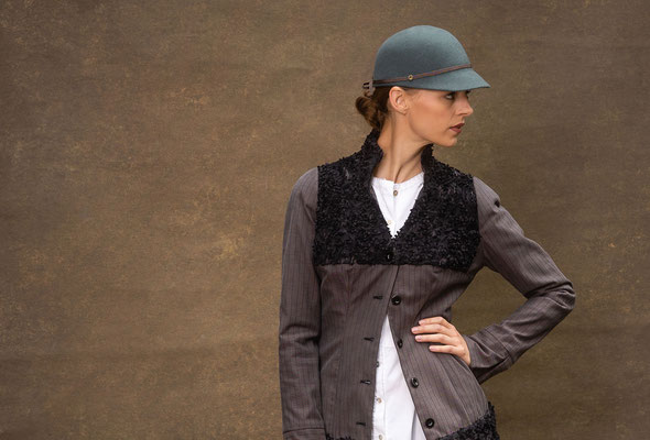 hat designer Anja Kaninck / Fotoshooting · Shooting · headpiece / Nicole Booss · BOcouture Hamburg