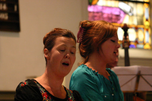 solisten Sinje Kiel en Esther Ebbinge