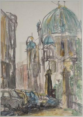 """Berliner Dom"", 1991, Tusche"