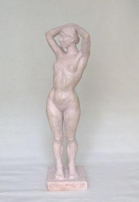 """""""Stehende"""", 2006, 53x16x16cm, Steinguß"""