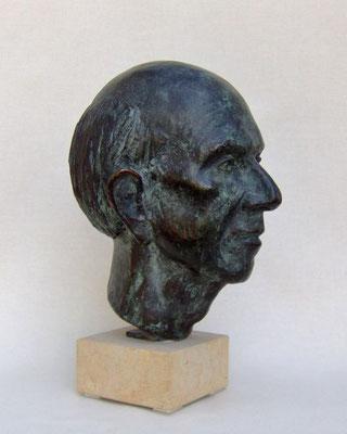 "Portrait ""Jan"", 2005, lebensgroß, Bronze"