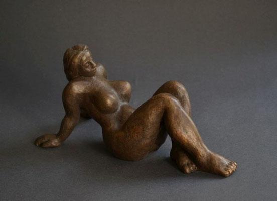 """Au soleil"", 2013, 25x12x11cm, Bronze"