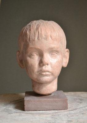 "Portrait ""Paulus"", 2004, lebensgroß, Ton"
