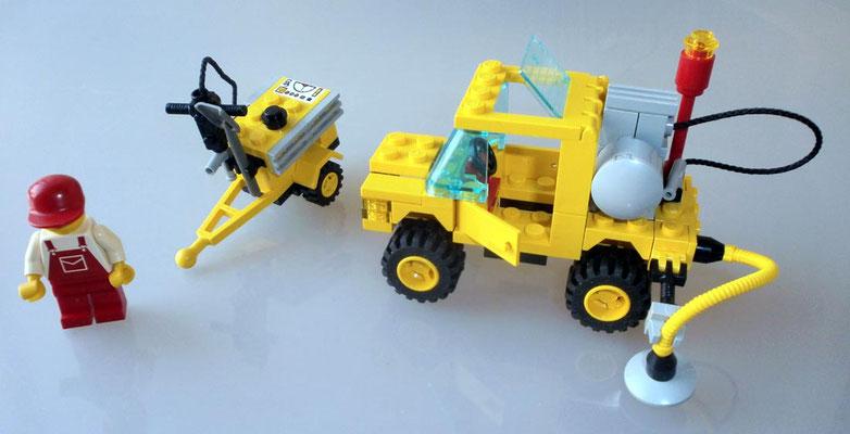 Lego 6667 System Straßenbau Reparatur Wagen Anhaenger