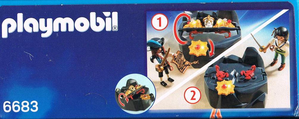 Playmobil 6683 Piraten Schatzversteck Funktion Seite