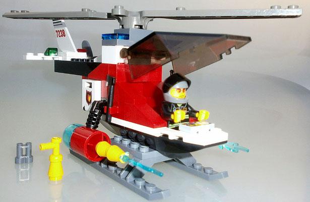 Lego City 7238 Feuerwehrhubschrauber Fire Helicopter