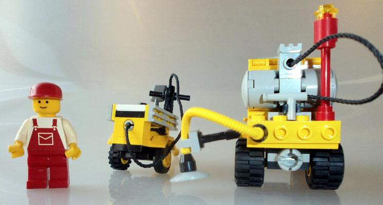 Lego 6667 System Straßenbau Reparatur Wagen hinten