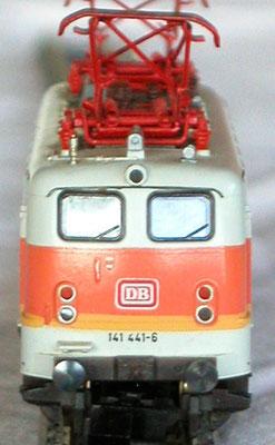 Fleischmann N 7329, Elektrische Lok der DB, Frontansicht