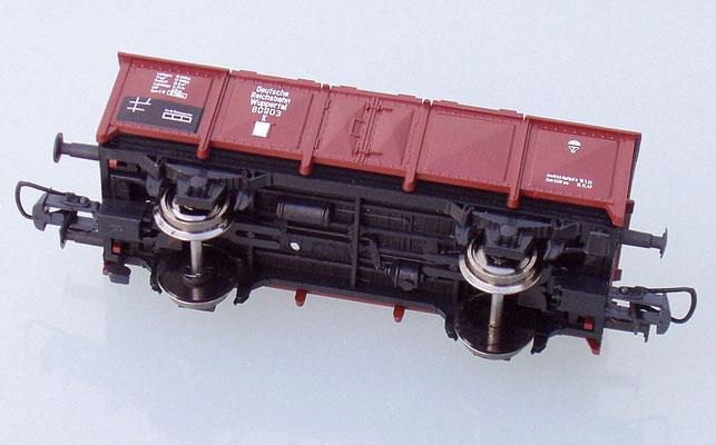 Roco 80903 H0 Klappdeckelwagen Seitenansicht