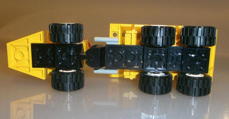 Lego System Legoland 6532 Kipplaster von unten