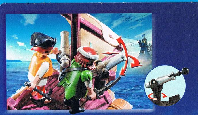 Playmobil 6682 Piratenfloß Seite