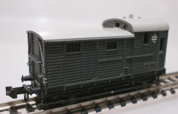 Minitrix N 3254 Packwagen mit Zugführer Abteil