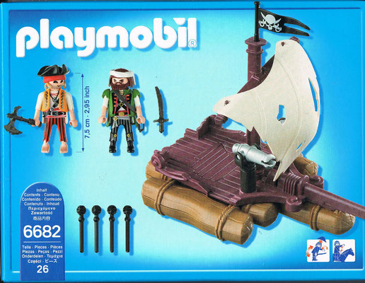 Playmobil 6682 Piratenfloß Rueckseite