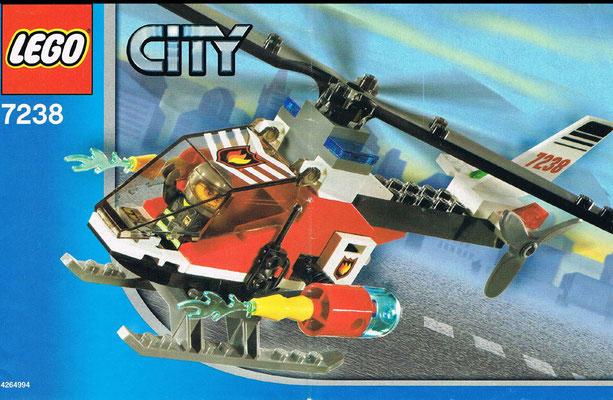 Lego City 7238 Feuerwehrhubschrauber Anleitung